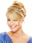 Thick Braided Headband by Christie Brinkley 1.3cm Inch Braid Adjustable Elastic Band - HT4 Darkest Brown