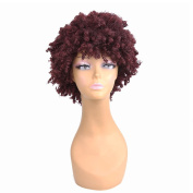 Longlove Short Brown Curly Wavy Human Hair Synthetic Fibre Wig For Women Life …