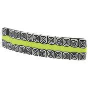 Murano Glass Millefiori Hair Clip - Green