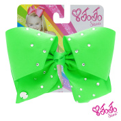 JoJo Siwa Signature Collection Hair Bow - Poison Green With Sticker Patch Set Included