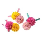 MISM Big Globular Flower Hair Clips Ribbon Bow Hair Accessories For Beach Party Hair Pin