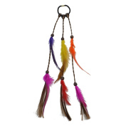 idealway Handmade Ethnic Gypsy Style Rope Bead Feather Hairbands Women Hairband Hair Accessory