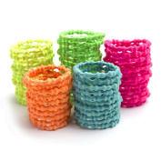 Munax Girl's Kids Bamboo Elastic Hair Ties Hair Band No Crease Ouchless Ponytail Holders, assorted colours, 100 pcs