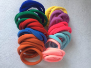 Munax Elastic Hair Ties Hair Ties Bands Rope No Crease Elastic Fabric Large Cotton Stretch Ouchless Ponytail Holders , 50 pcs