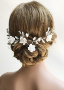 Missgrace Crystal Bridal Flower Headband Comb Wedding Hairpiece Hair Accessories -Women Evening Party Flower Crown