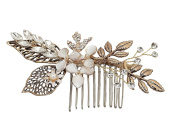 Meiysh Vintage Wedding Hair Combs with Bead and Rhinestones - Wedding Hair Accessories Bridal Headpiece