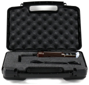 Stylist Hard Storage Carrying Case For Clippers, Trimmers and Buzzers. Fits Oster Classic 76, Philips Norelco, Wahl, Battery Charger and Accessories - Black