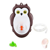 Fashionclubs Boys Wall Hanging Potty Standing Training Urinal Toilet Owl Shape With a Sucker 1M Pipe