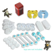 Baby Safety Proofing Kit|Drawer Locks & Table Corners & Door Stops & Ac Plug Socket Covers|Baby Shower Gifts|Baby Registry Gifts|Pack 2