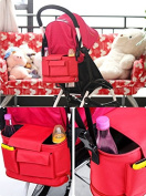 Fengirl Stroller Organiser Bag for Smart Moms - Universal Adjustable Strap - Baby Travel Accessory - Great idea for new parents gift