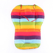 Yosoo Portable Waterproof Baby Stroller Cooling Bassinet Pad Lap Pads Liner Nappy Changing Station Kit with Mat Cushion Padding Car Seat Pad Rainbow