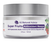 Super Fruits Antioxidant Masque | Cleansing Facial Mask for Men & Women | Anti-Ageing Natural Exfoliate | Clay, Green Tea, Vitamin C, Grapeseed | Men and Women | Canadian Made | 120 ml | DOUBLE THE SIZE