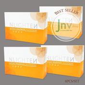 4pcs SAFE & POWERFUL NWORLD NLIGHTEN KOJIC PAPAYA SOAP with GLUTATHIONE