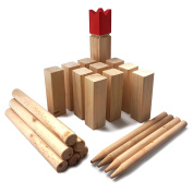 Ocean5 - Kubb - Original Viking Chess Game for Outdoors - Wooden Game from Scandinavia with Carrying Bag - the Perfect Game of Skill for Summer …