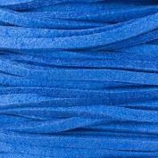 Cornflower Blue Microsuede 1.5mm Thick, 2mm Wide Flat Cord - 25 yard spool