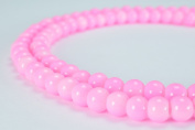Pink Glass Beads Round 6mm Shine Round Beads For Jewellery Making Item#789222045791