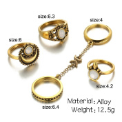 5PCS/Set Turkish Joint Knuckle Rings Vintage Stacking Midi Finger Knuckle Ring Set Jewellery for Women