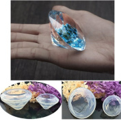 DIY Pendant Resin Jewellery Silicone Mould, Crystal Shape Pack of 2