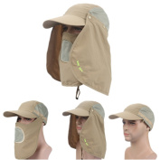 Cliror 2017 Women Men Fashion Wide Brim Fishing Hat Protection UPF 50+Sun Cap Removable Neck & Face Flap Cover Caps for Baseball,Backpacking,Cycling,Hiking,Fishing,Hunting Outdoor Camping