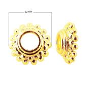18K Gold Overlay Bead Cap CG-138-12MM