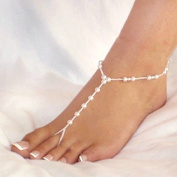 FASHICON Fashion Cute Nice Funny Womens Beach Imitation Pearl Barefoot Sandal Foot Jewellery Anklet Chain