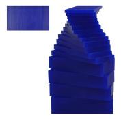 17 Piece Assortment of 0.5kg Blue Wax Carving Block Jewellery Pattern Making Machining Medium-Hard Melting Modelling Wax
