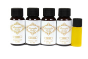 Fragrance Oil Sampler Set with Bonus Oil-Lavender, Gardenia, Sunflower, White Orchid and Bonus Magnolia-Scents for Candle Making and Soap Making- Works in Diffusers, Warmers, Potpourri