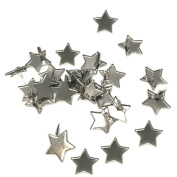 BESTCYC 14MM 200Pcs Creative Five-pointed Star Designed Metal Brad Paper Fastener for DIY Paper Craft Stamping Scrapbooking Card Making Arts Crafts Fastening Supplies
