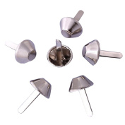 BESTCYC 200Pcs 8MM Silver Colour Metal Bucket Shape Brads Paper Fastener Scrapbooking Card Making Arts Crafts Brads