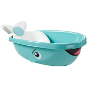 Fisher-Price Whale Bath Tub Infant-to-Toddler Cosy Padded Seat Back Bathing Tub and Seat