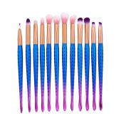 Ecurson 2017 12Pcs Blending Pencil Foundation Eye shadow Makeup Brushes Eyeliner Brush
