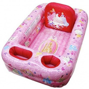 Disney Princess Inflatable Portable Bathtub Includes Supportive Back Piece and Two Pockets