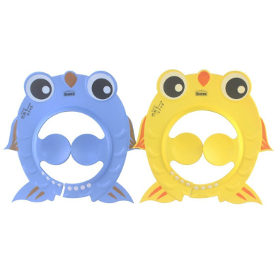 Dianoo 2PCS Baby Shower Cap, Waterproof Fish Typle Children Kids Bathing Cap Shampoo Shower Protect Hat Adjustable - Earmuffs Bathing Cap for Toddler's - Yellow & Blue