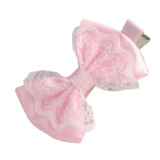 Vovomay Baby Girl Headbands Cute Lace Bowknot Hair Clips Child Hair Accessories