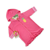 Baby Aspen Tropical Pineapple Hooded Beach Zip Up, Pink