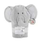 Baby Aspen Little Peanut Elephant Hooded Spa Towel, Grey/White