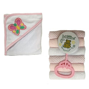 Four Seasons Baby Girl Bath Gift Set