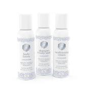 Baja Baby Lavender Travel Set - 60ml Shampoo, Conditioning Cream and Nourishing Body Lotion - EWG Verified™ - Free of Sulphates, Parabens and Phosphates - Dr Approved - .