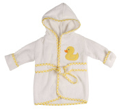 Little Beginnings Infant Plush Terry Bath Robe with Duck Applique