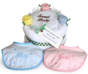 Sweet Surprise Gender Reveal Cake from Silly Phillie for Baby Boy or Girl