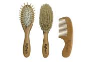 Yohino Wooden Baby Hair Brush and Comb Set