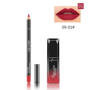 Hometom Long Lasting Lipstick Waterproof Matte Liquid Gloss Lip Liner Cosmetics Set New