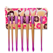 Hometom 7pcs Makeup Brushes set Fondation Eyeshadow Cosmetic Tool with Leather