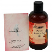 AKAMUTI - Organic Coldpressed Rosehip Oil - Acts against wrinkles - Reduces scarring & marks - Ideal as vitamin-rich eye care - VEGAN
