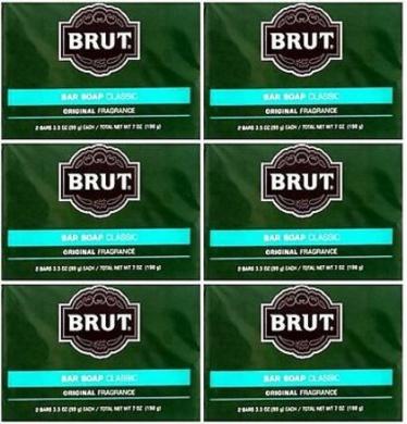 Lot of 12 Bars ( One Dozen) Brut Soap Classic Original Fragrance 100ml each