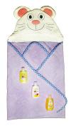 Sesame Street Baby Bath Pack and 1 Cloe Mouse Hooded Bath Towel. Plus . 1 Bunny Bath Mitt.