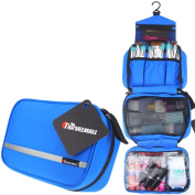 Travelmall Toiletry Bags Hanging Travel Kit Organiser Cosmetic Pouch Business Handbag Bathroom Storage Christmas Gifts Blue