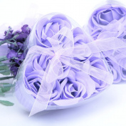 AiXiAng Cute Mini 6 Piece Light Purple Rose Soap for Wedding Soap Favours and Gifts or Baby Shower Soap Favours,50 Pack Lavender Colour