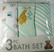 Rene Rolfe Baby 3 Pc. Bath Set-3 Hooded Bath Set Super Absorbent