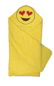 Hooded Emoji Towel for Kids- Show Your LOVE! -100% Cotton, Soft & Absorbent- 90cm x 90cm , Sized for Infants Toddlers & Kids by Hudz Kidz